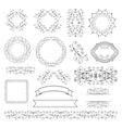 Set of labels ribbons and elements for design vector image vector image