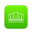 snow crown icon green vector image vector image