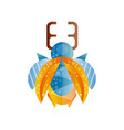stag beetle with blue and orange wings original vector image vector image