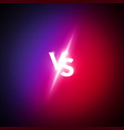 versus logo vs letters for sports and fight vector image