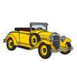 Vintage cabriolet vector image vector image
