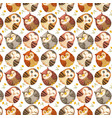 watercolor high quality cute owls seamless pattern vector image
