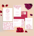 wedding stationery cards vector image