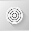 white flat circle badge vector image vector image