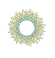 Vintage round frame colorfull summer hyppie vector image
