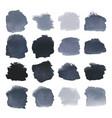 black blots watercolor set vector image