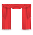 Red curtains on a white background vector image