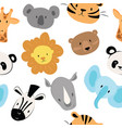 a set cartoon animals for vector image vector image