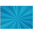 abstract blue striped retro comic background vector image vector image