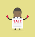 african businessman with sale ad and flyers vector image