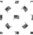american flag pattern seamless black vector image vector image