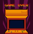 arcade vintage videgame vector image vector image