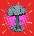 atomic explosion radioactive vector image