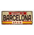 barcelona vintage rusty metal sign vector image vector image