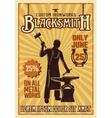 Blacksmith Yellow Poster vector image vector image