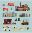 brewery and beer culture design items vector image