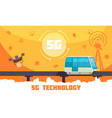 broadband internet technology vector image vector image