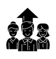 business team - 2 woman and man icon vector image