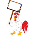 cartoon chicken rooster vector image vector image