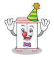 clown cabinet character cartoon style vector image