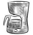coffee drink boiling in kettle isolated machine vector image vector image
