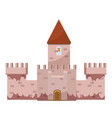 colorful castle icon cartoon style vector image vector image
