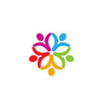 colorful people group team logo vector image vector image