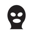 criminal mask icon design vector image