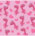 cute dinosaur seamless pattern adorable cartoon vector image