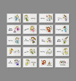 cute little fairies collection cards for your vector image vector image
