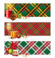 English Christmas borders vector image