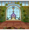 Fabulous mosaic gates into the magical land vector image
