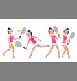 female tennis player woman big tennis vector image
