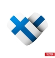 Flag icon in the form of heart I love Finland vector image vector image