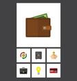 flat icon incoming set of strongbox portfolio vector image