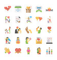 flat icons parents day vector image vector image
