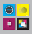 flat style abstract colorful posers set art vector image vector image