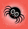 funny spider vector image vector image