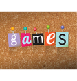 Games Concept vector image vector image