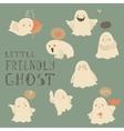 Ghosts emoticon halloween set vector image vector image
