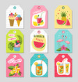 gift tags with summer tropical decoration vector image