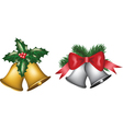 gold and silver bells vector image