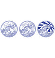 great wave line vector image