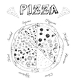 Hand drawn pizza vector image
