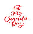 happy canada day card handwritten vector image vector image