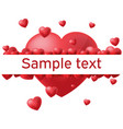 Heart white background border text
