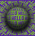 hello patterned sphere rolling on rotating vector image vector image