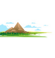 high mountain in forest nature vector image vector image