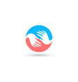 isolated blue and pink round logo global vector image
