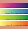 khartoum multiple color gradient skyline banner vector image vector image